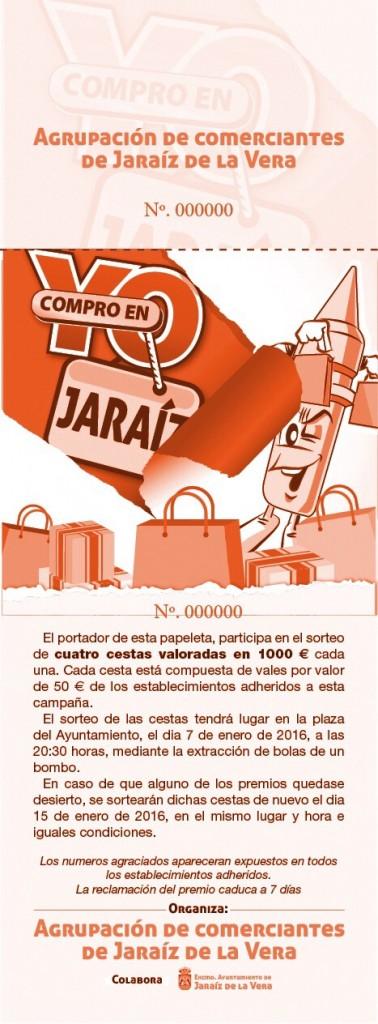 Papeletas de la Campaña Yo Compro en Jaraíz 2015